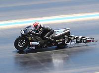 Jul 23, 2017; Morrison, CO, USA; NHRA pro stock motorcycle rider Joey Gladstone during the Mile High Nationals at Bandimere Speedway. Mandatory Credit: Mark J. Rebilas-USA TODAY Sports