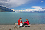 KLUANE LAKE, THE YUKON, CANADA.
