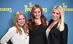 """Actress Jenni Barber, actress Alicia Silverstone and actress Ari Graynor attends press event to introduce the cast and creators of the new Broadway play """"The Performers""""at the Hard Rock Cafe on Tuesday, Sept. 25, 2012 in New York. (Photo by © Walter McBride/WM Photography//AP)"""