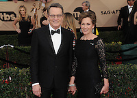 www.acepixs.com<br /> <br /> January 29 2017, LA<br /> <br /> Actors Bryan Cranston (L) and Robin Dearden arriving at the 23rd Annual Screen Actors Guild Awards at The Shrine Expo Hall on January 29, 2017 in Los Angeles, California<br /> <br /> By Line: Peter West/ACE Pictures<br /> <br /> <br /> ACE Pictures Inc<br /> Tel: 6467670430<br /> Email: info@acepixs.com<br /> www.acepixs.com