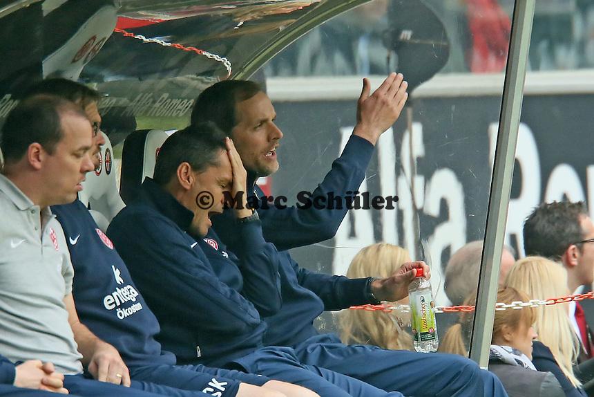 Trainer Thomas Tuchel (Mainz) nach vergebener Chance  - Eintracht Frankfurt vs. 1. FSV Mainz 05