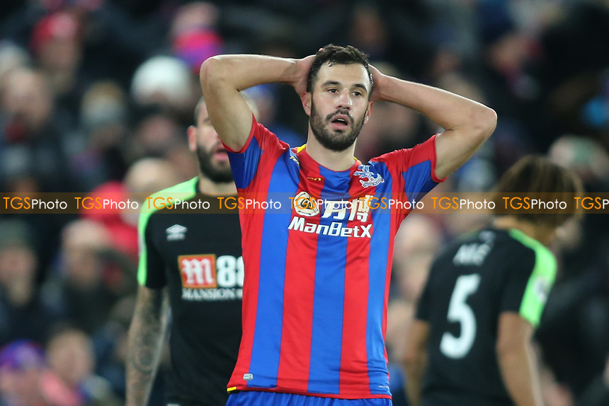 Luka Milivojevic of Crystal Palace rues a late chance to score during Crystal Palace vs AFC Bournemouth, Premier League Football at Selhurst Park on 9th December 2017