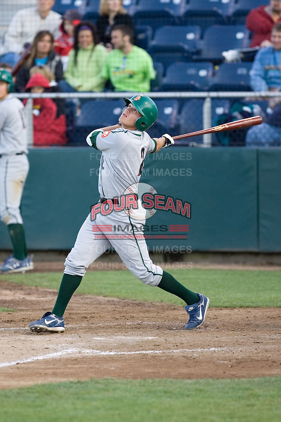 June 25, 2008: The Boise Hawks' Jake Opitz at-bat against the Everett AquaSox during a Northwest League game at Everett Memorial Stadium in Everett, Washington.