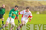 Castlegregory's Sean O'Mahony and Watervillie's Michael Curran.