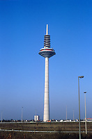 Franfurt: Television tower. Height--approx. 330 M. Photo '87.