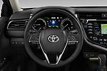 Car pictures of steering wheel view of a 2019 Toyota Camry Premium 4 Door Sedan Steering Wheel