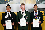 Boys Cricket finalists Victor Davies, Tony Manning & Sheahan Huri. ASB College Sport Young Sportperson of the Year Awards 2007 held at Eden Park on November 15th, 2007.