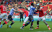 Sheffield Wednesday corner with players moving into the box during Charlton Athletic vs Sheffield Wednesday, Sky Bet EFL Championship Football at The Valley on 30th November 2019