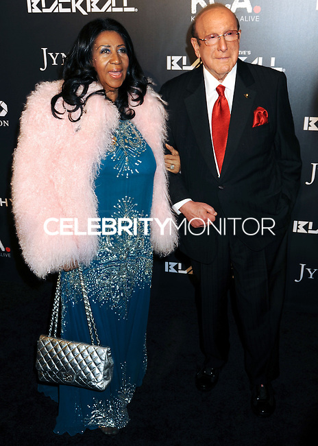 NEW YORK CITY, NY, USA - OCTOBER 30: Aretha Franklin, Clive Davis arrive at the 11th Annual Keep A Child Alive Black Ball held at the Hammerstein Ballroom on October 30, 2014 in New York City, New York, United States. (Photo by Celebrity Monitor)