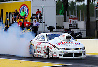 Mar 13, 2015; Gainesville, FL, USA; NHRA pro stock driver Jimmy Alund during qualifying for the Gatornationals at Auto Plus Raceway at Gainesville. Mandatory Credit: Mark J. Rebilas-