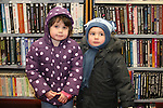 Sarah and Niall Murray at the Christmas Story time in the Library..Photo NEWSFILE/Jenny Matthews.(Photo credit should read Jenny Matthews/NEWSFILE)....This Picture has been sent you under the condtions enclosed by:.Newsfile Ltd..The Studio,.Millmount Abbey,.Drogheda,.Co Meath..Ireland..Tel: +353(0)41-9871240.Fax: +353(0)41-9871260.GSM: +353(0)86-2500958.email: pictures@newsfile.ie.www.newsfile.ie.FTP: 193.120.102.198.