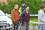 Deceased womans sister Kristina and her husband Viadas at the scene of the Double murder at Langford Downs Killorglin on Monday MorningDeceased womans sister Kristina (in Black)and her husband Viadas at the scene of the Double murder at Langford Downs Killorglin on Monday Morning