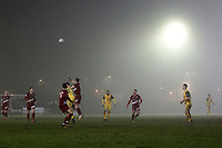 Fog descends over the ground during Chelmsford City vs AFC Hornchurch, BBC Essex Senior Cup Football at Melbourne Park on 4th February 2019