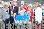 Naoise Griffin, winner of the Birds carnival art competition held on Saturday night pictured with judges Ursala Flannery and Breda Joy, Killarney Mayor Cllr Sean Counihan, Don Bird and Sheila Courtney.
