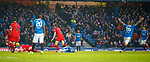 4.3.2018: Rangers v Falkirk Scottish Cup QF<br /> Peter Grant and Josh Windass collide in the box