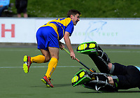 Action from the 2018 Men's National Hockey League match between Southern and Capital at National Hockey Stadium in Wellington, New Zealand on Friday, 21 September 2018. Photo: Dave Lintott / lintottphoto.co.nz