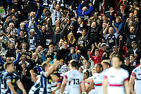 Bristol Rugby supporters react to a second half try. Greene King IPA Championship Play-off Final (second leg), between Bristol Rugby and Doncaster Knights on May 25, 2016 at Ashton Gate Stadium in Bristol, England. Photo by: Patrick Khachfe / JMP