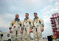 "On January 27, 1967, Apollo 1's crew--Virgil I. ""Gus"" Grissom, Edward H. White II and Roger B. Chaffee--was killed when a fire erupted in their capsule during testing. Apollo 1 was originally designated AS-204 but following the fire, the astronauts' widows requested that the mission be remembered as Apollo 1 and following missions would be numbered subsequent to the flight that never made it into space."