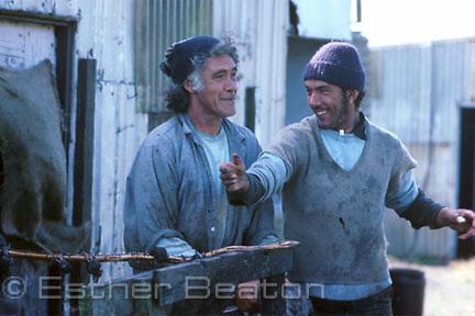 Aboriginal Tasmanian muttonbirders. Trefoil Island, Tasmania