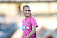 Cary, North Carolina  - Saturday September 09, 2017: Samantha Mewis prior to a regular season National Women's Soccer League (NWSL) match between the North Carolina Courage and the Houston Dash at Sahlen's Stadium at WakeMed Soccer Park. The Courage won the game 1-0.