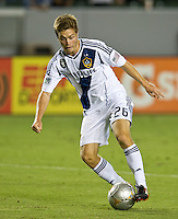 CARSON, CA - September 1, 2012: LA Galaxy midfielder Michael Stephens (26) during the LA Galaxy vs the Vancouver Whitecaps FC at the Home Depot Center in Carson, California. Final score LA Galaxy 2, Vancouver Whitecaps FC 0.