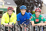 Mark Nagle, Donie kelleher and Shay Kelleher Rathmore who participated  in the Currow CC fun cycle on Sunday ..