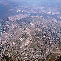 1998 September 05..Aerial..High altitude of census tracts around Elizabeth River in Portsmouth & Norfolk..Gene Woolridge.NEG# 11678 - 36.NRHA#..