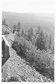 View from caboose window of D&amp;RGW train descending Marshall Pass.<br /> D&amp;RGW  Marshall Pass, CO