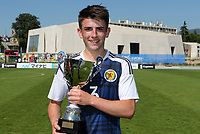 Scotland's Greg Taylor wins the third best player of the Toulon Tournament Award during Czech Republic Under-20 vs Scotland Under-20, Toulon Tournament Football at Stade de Lattre-de-Tassigny on 10th June 2017
