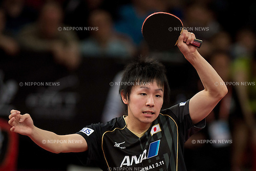 Koki Niwa (JPN), MAY 18, 2013 - Table Tenis : Koki Niwa of Japan competes during men's singles round of 16 of the 2013 World Table Tennis Championships at Palais Omnisport de Paris Bercy, Paris, France. (Photo by Enrico Calderoni/AFLO SPORT) [0391]