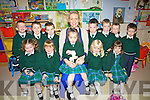 NEW SCHOOL: Pupils from Aghatubrid who started school on Thursday last were pictured front l-r: Katelyn Kelly, Rihanna Kelly, Emma O'Neill, Eimear O'Shea and Aine Kelly. Back l-r: Cathal Walsh, Luke McCarthy, Ryan O'Neill, Sinéad O'Sullivan (Teacher/Principal) Killian Lynch, Fionán O'Shea, Geroide Keating and Niall McCormick.