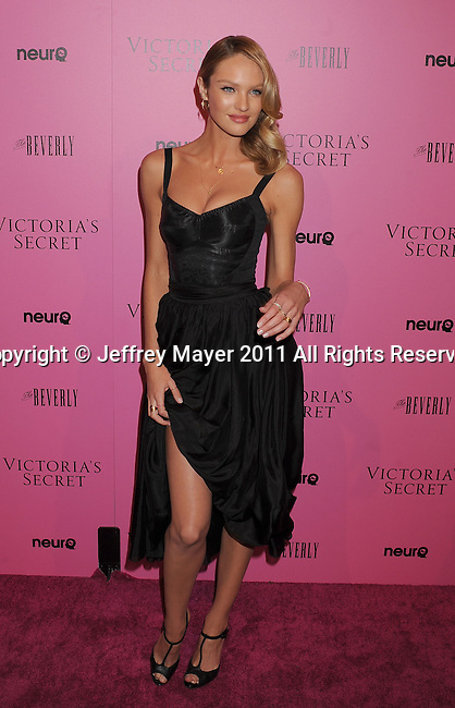 "LOS ANGELES, CA - MAY 12: Candice Swanepoel arrives to the Victoria's Secret 6th Annual ""What Is Sexy? List: Bombshell Summer Edition"" Pink Carpet Event at The Beverly on May 12, 2011 in Los Angeles, California."