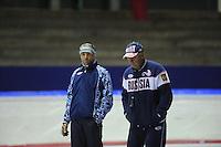 SCHAATSEN: HEERENVEEN: IJsstadion Thialf, 04-07-2013, Training zomerijs, Kosta Poltavets (trainer/coach RUS), ©foto Martin de Jong