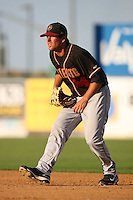 August 24 2008: Michael Paulk of the Modesto Nuts during game against the Lancaster JetHawks at Clear Channel Stadium in Lancaster,CA.  Photo by Larry Goren/Four Seam Images