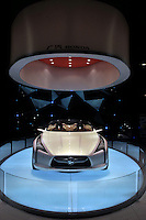 A Honda car is displayed in Guangzhou, China. .