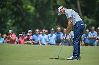 Jordan Spieth (USA) barely misses his birdie attempt on 1 during round 1 of the AT&amp;T Byron Nelson, Trinity Forest Golf Club, at Dallas, Texas, USA. 5/17/2018.<br /> Picture: Golffile | Ken Murray<br /> <br /> <br /> All photo usage must carry mandatory copyright credit (&copy; Golffile | Ken Murray)