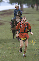 26 JUN 2002 - KHOVSGOL NATIONAL PARK, MONGOLIA - Marc Progin - Mongolia Sunrise to Sunset Ultramarathon. (PHOTO (C) NIGEL FARROW)