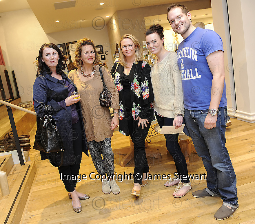 INVITED GUESTS, LESLIE SWINTON, DAWN DRUMM, VICTORIA DRUMM, MOLLY DRUMM AND SEAN GILLESPIE, AT THE LAUNCH EVENING  OF THE NEW ANTHROPOLOGIE STORE IN GEORGE STREET EDINBURGH<br /> <br /> For further info contact Kelly Cooper Barr, 07967 184911