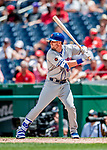 1 August 2018: New York Mets infielder Jeff McNeil pinch hits in the 8th inning against the Washington Nationals at Nationals Park in Washington, DC. The Nationals defeated the Mets 5-3 to sweep the 2-game weekday series. Mandatory Credit: Ed Wolfstein Photo *** RAW (NEF) Image File Available ***
