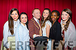 Jack Patrick Healy Just Blew in From the Windy City with actresses from Killarney musical society production of Calamity Jane in the INEC on Friday night l-r: Elishe O'Donoghue, Jessica Murphy, Jack Patrick Healy, Siobhain Bustin, Linda Sinosi and Katie Cameron