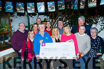 Betty's Bar, Strand road, Tralee held a number of events last year in the bar, and presented cheques to Daithi Moriarty of Kerry Hospice, front left, last Saturday evening at the bar from the proceeds. Other charities who gained were, Recovery Haven, Tralee and NCBI.
