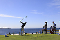 Chez Reavie (USA) tees off the par3 the 7th tee during Sunday's Final Round of the 2018 AT&amp;T Pebble Beach Pro-Am, held on Pebble Beach Golf Course, Monterey,  California, USA. 11th February 2018.<br /> Picture: Eoin Clarke | Golffile<br /> <br /> <br /> All photos usage must carry mandatory copyright credit (&copy; Golffile | Eoin Clarke)
