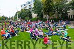 Large crowd at the Open Air Film screening of  Shaun the Sheep  in Pearse Park part of Culture Night on Friday