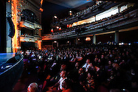 New York, United States. 23th March 2014 - People attend a special concert to commemorate the life and legacy of Celia Cruz at the Apollo theater in Harlem, New York. Photo by Eduardo Munoz Alvarez/VIEW