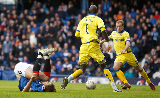 Nikica Jelavic dumped on the ground by Mohamodou Sissoko