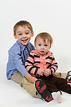 WATERBURY, CT- 10 December 2015-121015EC28-  Christmas Kids North. Braxton Dziadik, 3, and his sister Alyssa, 1, are from Torrington. Braxton's favorite thing about Christmas is the tree. Erin Covey Republican-American
