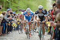 Bjorn Leukemans (BEL/Wanty-GroupeGobert) up the Taaienberg<br /> <br /> Ronde van Vlaanderen 2014