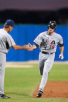 25 September 2009: Ike Davis of Team USA runs the bases after hitting a homerun during the 2009 Baseball World Cup final round match won 8-2 by Team USA over Netherlands, in Nettuno, Italy.
