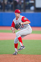 Brooklyn Cyclones relief pitcher Brandon Welch (21) in action against the Hudson Valley Renegades at Dutchess Stadium on June 18, 2014 in Wappingers Falls, New York.  The Cyclones defeated the Renegades 4-3 in 10 innings.  (Brian Westerholt/Four Seam Images)