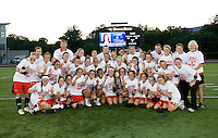 Maryland poses for a team photo after the NCAA Championship held in Johnny Unitas Stadium at Towson University in Towson, MD.  Maryland defeated Northwestern, 13-11, to win the title.